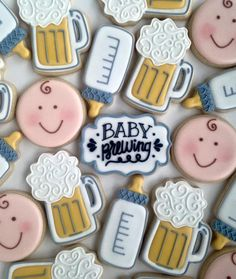 Baby Brewing baby shower cookies