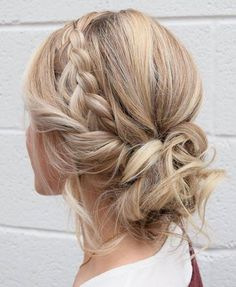 Braid Crown Updo Hairstyles 2018 with Color Shades Ideas