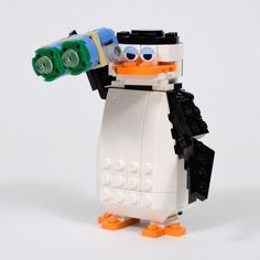 https://flic.kr/p/qym3zL   Penguin Time: Skipper   Skipper is the commander of the group. Because he needs to plan ahead, he can turn his head around and also use his binoculars to conquer the next challenge.