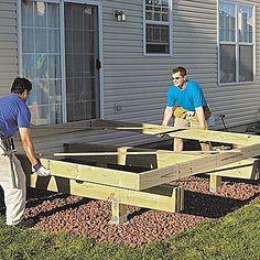 Building A Deck Frame, Deck Building Plans, Building A Cabin, Deck Plans, Pergola Plans, Pergola Kits, Cool Deck, Diy Deck, Diy Patio