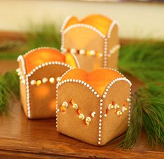 Cookie votive holders by Julia M. Usher, from her book Cookie Swap