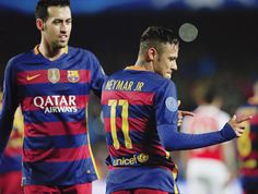 barcelonaesmuchomas:    after scoring to make it... - piquemar stan