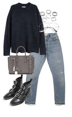 """""""Untitled #4830"""" by theeuropeancloset on Polyvore featuring Yves Saint Laurent and Topshop"""