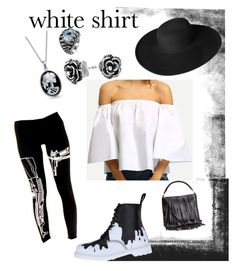 """""""hard white"""" by hedeml on Polyvore featuring Dr. Martens, Bling Jewelry, H&M, Dorfman Pacific and WardrobeStaples"""