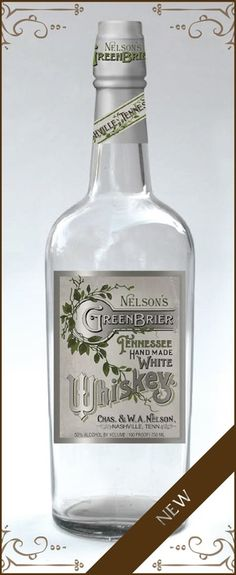 """Nelson's Green Brier Distillery White Whiskey. Tasted on the tour, 9/18/15. I'm not a fan of """"white"""" whiskey. I think it's just a cheap way to get more product onto the market. Having said that, this was good enough to make me very interested in tasting the aged product."""