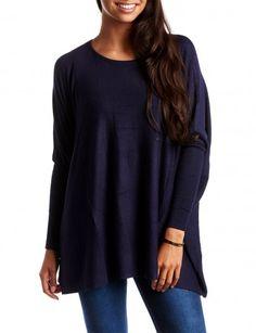 Loose Trui Donkerblauw - truien kopen - leuke kleding