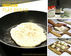 Easy Indian Flat Bread (Adapted from Jamie Oliver's recipe)