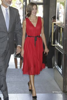 Queen Letizia attends a concert in honour of the 15th anniversary of Grupo Vocento at the Royal Theatre in Madrid. 21 September 2017