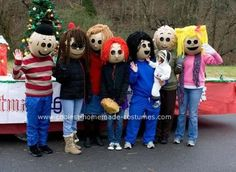 Homemade Peanuts Gang Group Costume... This website is the Pinterest of costumes