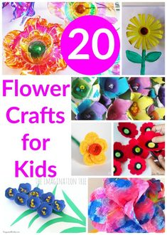 20 Flower Crafts for Kids - The Imagination Tree Preschool Art Projects, Art Activities For Kids, Spring Activities, Preschool Crafts, Fun Crafts, Festive Crafts, Preschool Education, Toddler Activities, Spring Projects