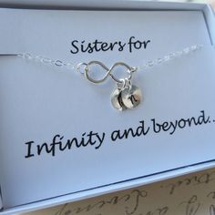 Sister+Necklace+&+Card+SETSister+Infinity+Jewelry+by+lizix26,+$32.50