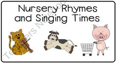 Tot Camp - Nursery Rhymes Freebie  created by LittleAdventuresPreschool