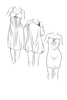 Silhouettes à habiller, aux proportions réelles et