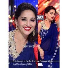 Madhuri Blue Jhalak 60gm Georgette Bollywood Dress