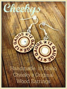 Cheekys Original Wood Earrings Dangle 12 guage ~ Made in the USA Wood Earrings, Dangle Earrings, Mommy Jewelry, Western Jewelry, Boutique Clothing, Jewlery, Addiction, Dangles, The Originals