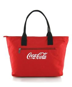 fe4ecad34981 Stow away the essentials in slick Coke style using this bold canvas tote. Coca  Cola