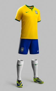 brazil-2014-15-nike-home #FIFA #WorldCup2014 #Brazil #Nike