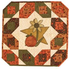 Autumn Star from Quiltmaker's Small Quilts & Gifts, Fall 2011 http://www.quiltandsewshop.com/product/quiltmakers-small-quilts-and-gifts-2011-digital-issue/quiltmaker