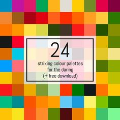 24 fabulous colour palettes that you can use in your own designs, plus a downloadable Adobe Illustrator swatch file so you can start using them right away!
