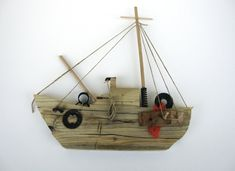 Wooden Decorative Ship Nautical Home by Yourbeautifulhome on Etsy, $56.00
