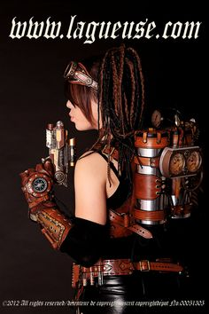 steampunk girl jet pack by Lagueuse.deviantart.com on @DeviantArt