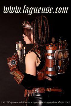 steampunk girl jet pack by Lagueuse.deviantart.com on @DeviantArt