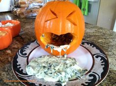 I made this fun Halloween Appetizer for a party I went to last night and everyone was talking about it. It was so easy to make and delicious too!