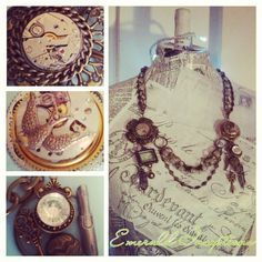 'Cronos concubinus' Massive Couture Steampunk Necklace - all handmade with original antique parts.@emeraldinceptions (emeraldinceptions@gmail.com) 's Instagram photos | Webstagram - the best Instagram viewer