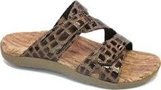 Orthaheel Orthotic Orthotics Women's Holly Sandals / Shoes / Thongs Brown NEW