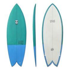 SO FRESH Surfboard Tiger fish 33 Cool Blue Board