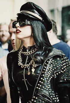 Lady Gaga. Latex outfit.