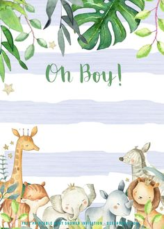 Are you about to deliver a baby? Then, you might celebrate it and create a baby shower party. Whether it is a small or big party, it is best to give a Safari baby shower invitation to the people. You could use the free printable Safari baby shower in Fotos Baby Shower, Baby Shower Niño, Shower Bebe, Floral Baby Shower, Baby Shower Themes, Shower Party, Safari Baby Shower Cake, Shower Ideas, Safari Invitations