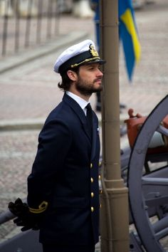 Prince Carl Philip of Sweden attends the birthday ceremony of King Carl XVI Gustaf of Sweden at the Royal Palace on 30.04.2014 in Stockholm, Sweden.