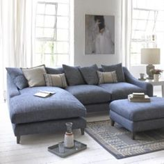 Oscar chaise sofa loose cushion back with weathered oak legs