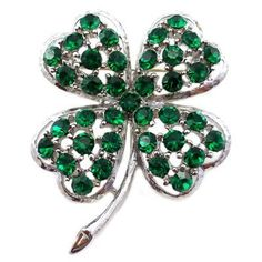 Brooches Store Emerald Swarovski Crystal 4 Leaf Clover Shamrock Brooch by BROOCHES STORE, http://www.amazon.co.uk/dp/B007ZD4FY2/ref=cm_sw_r_pi_dp_BB3Vqb12AS7BT