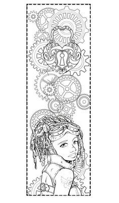 Free Printable Steampunk Coloring Pages
