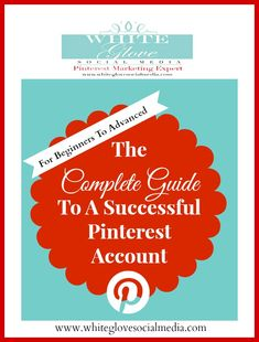 """#PinterestExpert shares """"The complete guide for beginners and advanced Pinterest users"""". Go here to learn over 79 Pinterest resources http://www.whiteglovesocialmedia.com/social-media-marketing-the-complete-guide-to-a-successful-pinterest-account/ ✭White Glove Social Media Marketing✭"""
