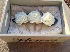 Check out this item in my Etsy shop https://www.etsy.com/listing/266826725/ivory-and-gold-boutonniere-rose-gold