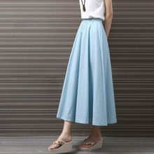 d41da37e91ac 2016 New Wholesale Women Chiffon Long Skirts Candy Color Pleated Maxi Women  Skirts 2016 Spring Summer ...