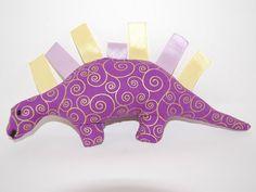 Dino Plushie Purple and Gold Coranatied by StitchesByMotherHen