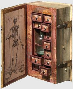 17th century secret poison case disguised as a book.