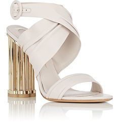 Salvatore Ferragamo Caged-Heel Leather Sandals | Barneys New York
