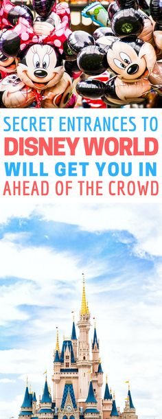 Saving these secret entrances to Disney World for later - these tips are pricess!