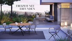 Essgarnituen von Lederleitner Pisa, Outdoor Tables, Outdoor Decor, Royal Botania, Creative Decor, Minimalism, Outdoor Furniture Sets, Branding Design, Hardwood