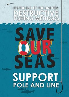 Great posters advocating for sustainable seafood from illustration student Marj Newnham!