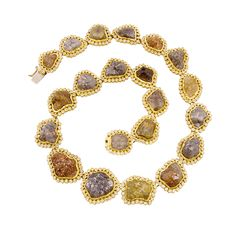 Todd Reed Raw Diamond and Recycled Gold Collar Necklace | 2013 Gift Guide: Winter Wonderland | Organic Spa Magazine