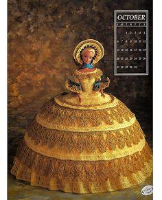 Miss October 1991 Annies Calendar Bed Doll Society  Fashion Doll  Crochet Pattern  Annies Attic 7410.