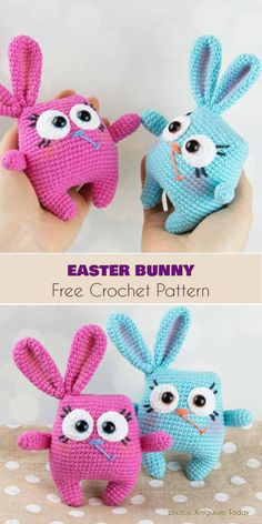 Easter Bunny Amigurumi Free Crochet  Pattern #freecrochetpatterns #amigurumi #amigurumipattern #crochettoys #easterbunny
