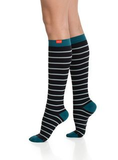Striped Compression Socks. No more Beige! @easeliving