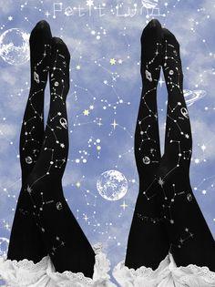 Petit Luna -Mysterious Constellations- Lolita Tights
